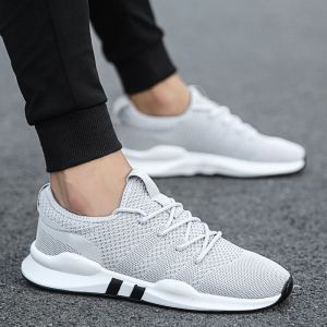 Lightweight Sneakers Mens Shoes Sport Trainers White Breathable Soft Comfortable Sneakers